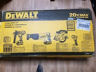 DEWALT 20-Volt MAX Lithium-Ion Cordless Combo Kit (4-Tool) with (2) Batteries