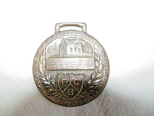 Antique Knights of Pythias Commemorative Medallion 50 yrs 1854-1914-School House