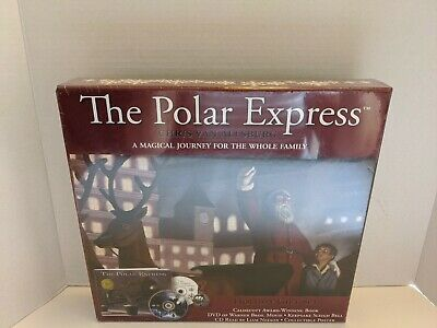 The Polar Express Holiday Gift Set Book DVD Keepsake Sleigh Bell CD Poster NEW