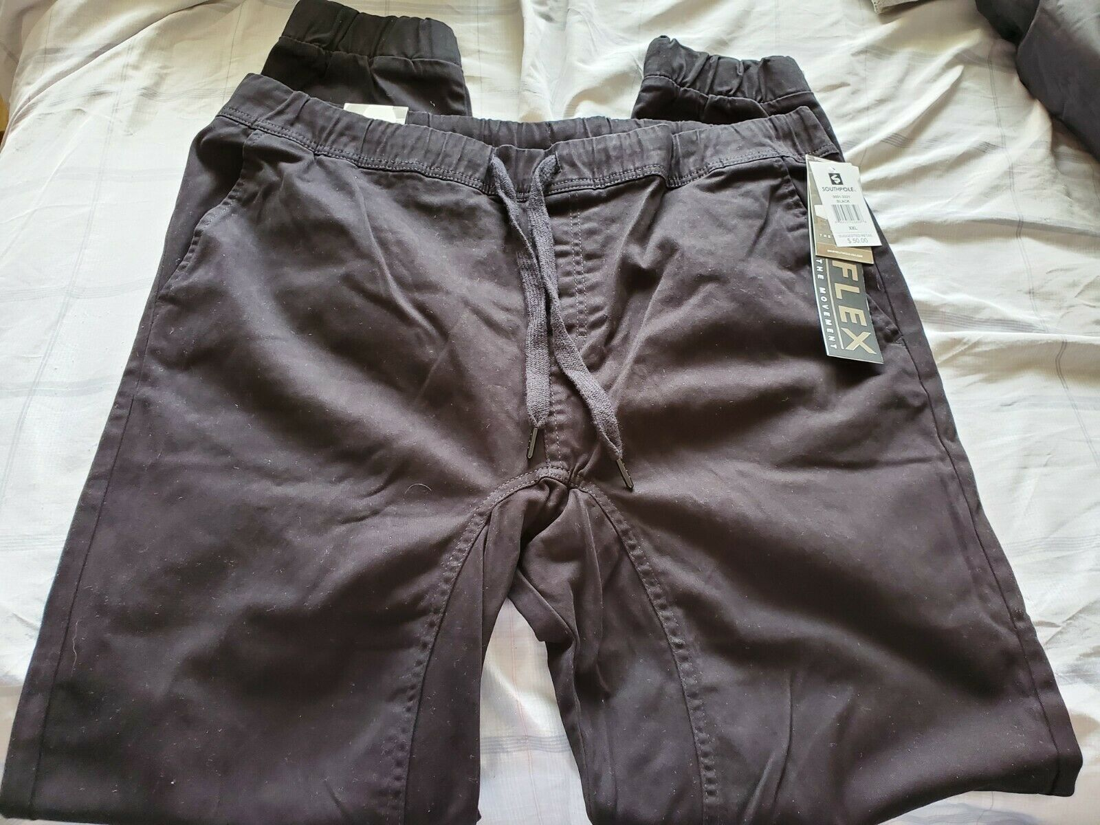 NWT Southpole Men's Basic Stretch Twill Jogger Pants Black S