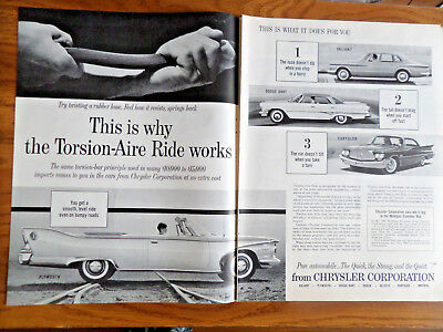 1960 Chrysler Plymouth Valiant Dodge Dart Ad Why Torsion-aire Ride Works
