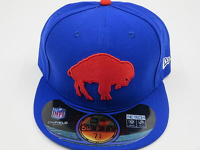 New Era Buffalo Bills Throwback Retro 59Fifty Fitted Royal Blue Hat Baseball (Buffalo Bills Retro Hat)