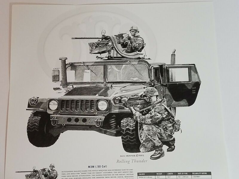 Dick Kramer Print Law Enforcement Military ROLLING THUNDER for FN Herstal 2002