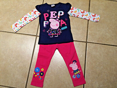 Cartoon Pig Go Team Cheerleader or Princess Legging Outfit Size 5/6](Pig Outfit)