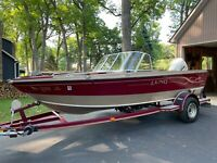 2000 Lund Boat 1700 Pro Sport Package 115 HP Evinrude Outboard K-Dee Trailer NR