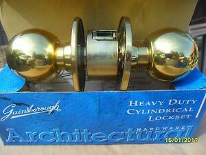DOOR HANDLE PRIVACY LOCK SET POLISHED BRASS Lake Munmorah Wyong Area Preview