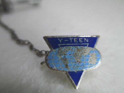 Vintage YMCA Y-teen pin tiny lapel