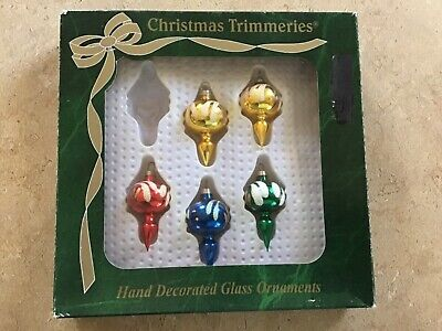 5 Vtg  Mini Miniature Bradford Trimmeries Christmas Ornaments  Bradford Christmas Ornaments