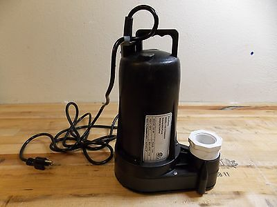 Nuline Submersible Sump And Sewage Pump 12 Hp 2 Outlet Model 62436977