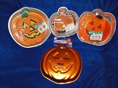 NEW VINTAGE WILTON HALLOWEEN PUMPKIN CAKE PANS, YOU PICK - Halloween Cakes Pumpkin