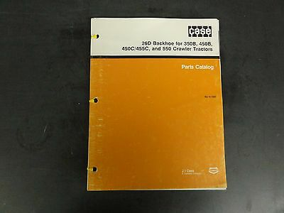 Case 26d Backhoe For 350b450b450c455c 550 Crawler Parts Catalog 8-1683