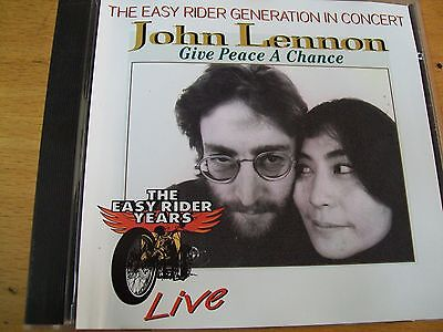 JOHN  LENNON GIVE A PEACE A CHANCE LIVE CD  YOKO ONO BOLLO SIAE A