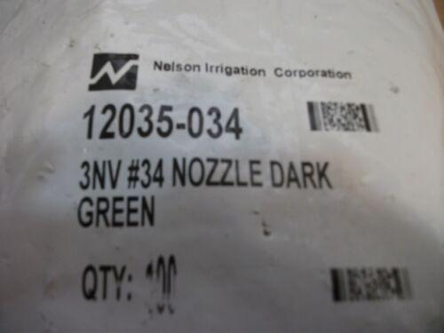 100pc Nelson Irrigation 12035-034 3nv # 34 nozzle dark green +