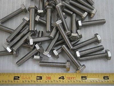 Machine Screws 14-28 X 1 14 Hex Cap Stainless Steel Lot Of 17 2174a