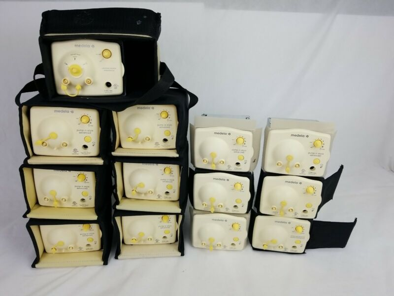 Lot of 13 Medela Pump Breast  Motor only 7 with case & 6 with no case see imag