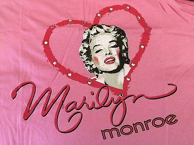 Marilyn Monroe Ladies 2 piece Pajamas Medium Pink NEW w tag Sleepwear FREE Ship