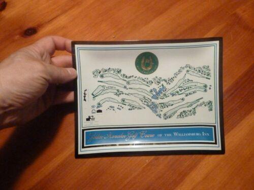 Vintage Horseshoe Golf Course Williamsburg Inn Glass Trinket Dish