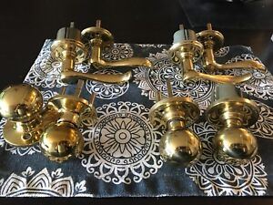 Used Brass Door Levers and Knobs
