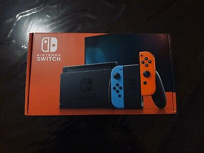 Nintendo Switch Console V2 With Neon Blue Joy-Cons 32GB HAC-001(-01) Brand New