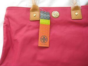 NEW Tory Birch Jaden Tote Handbag style#31139754 Auburn/Carmine
