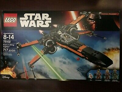 LEGO STAR WARS THE FORCE AWAKENS 75102 Poe's X-wing Fighter NISB New & Sealed
