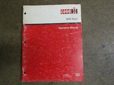 Case International 8555 Square Baler Owners Manitenance Manual