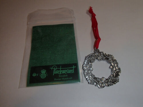 Swedish Pewter Christmas Ornament Tennesmed Sweden Wreath