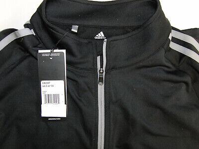 "ADIDAS 3-Stripes Quarter Zip Golf Pullover ""BLACK SIZE MEDIUM""  NEW with Labels"