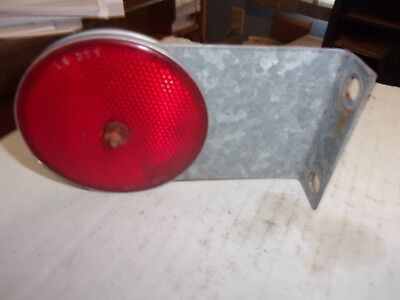 New Idea Corn Picker - Lot Of Two - 308917 Red Amber Reflectors W Bracket