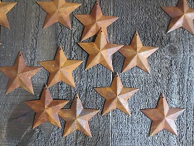 Lot 100 Rusty Barn Stars 2.25 in 2 1/4 Primitive Country Rusted Rust SHIPS FREE!