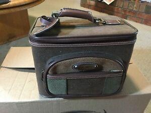 Vintage Jaguar train cast / makeup bag /toiletry bag.