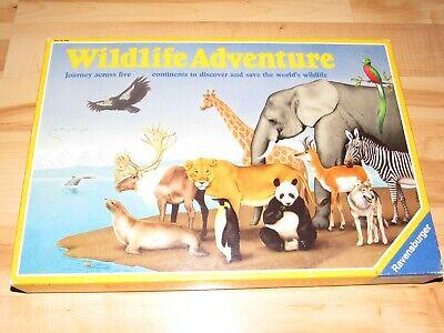 Wildlife Adventure Board Game 100% Complete Ravensburger 1986