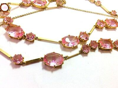 Kate Spade Pink Glacial Ice Necklace NWT Extraordinary Faceted Crystals on Gold  - Glacial Ice Crystal