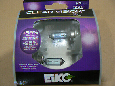 H7 55W Headlight Bulb-Clear Vision XL - Twin Pack Headlight Bulb Eiko H755CVXL2
