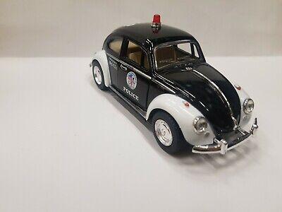 1967 Vw Classical Beetle police kinsmart Toy model car 1/32 scale diecast metal