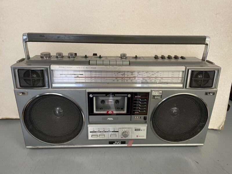 JVC RC-M50JW Stereo Radio Cassette Recorder Portable Vintage Boombox - fpor read
