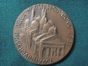 750 anniversario morte S.ANTONIO 1981 / PADOVA / Medaglia bronzo - Italia - 750 anniversario morte S.ANTONIO 1981 / PADOVA / Medaglia bronzo - Italia