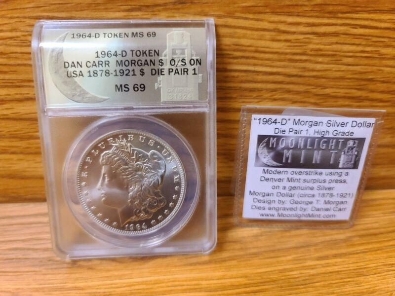 1964 D TOKEN MS69 DANIEL CARR MORGAN DOLLAR!