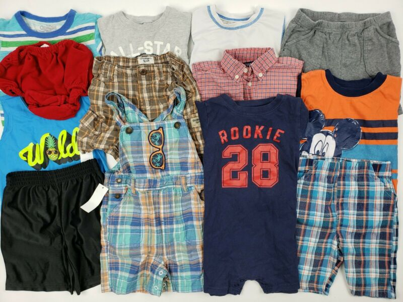 24 Months 2t Boys Clothes Lot Oshkosh Carters Chaps Etc Summer Romper Disney