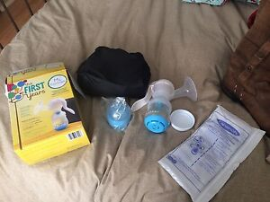 First years manual breast pump like new