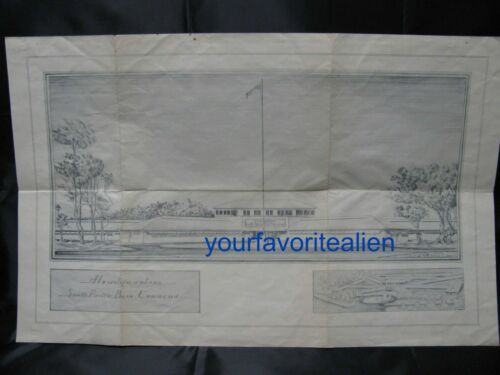 1944 South Pacific Base Command base - drawing by U.S. Army Marlowe C. Ihling