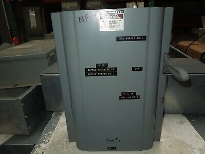 Westinghouse Xu-323 100a 240vac Double Throw Non-fused Manual Transfer Switch