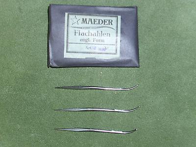 Plattoerter, Flachahlen engl. Form, Maeder, 70 mm, 50 Stück, unbenutzt,