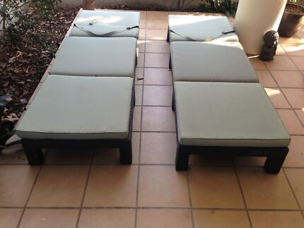 Sun loungers and chest New Farm Brisbane North East Preview