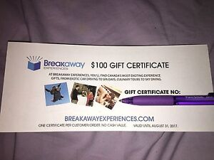 $125 gift certificates/ gift card