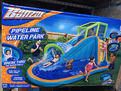 BANZAI Pipeline Water Slide Park Inflatable Pool New in Box SUMMER FUN!!!