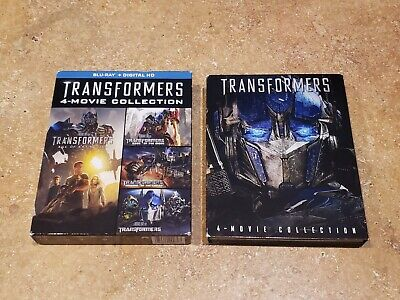 Transformers Complete 4-Movie Collection (Blu Ray, 2014, 4-Disc Set) LIKENEW!