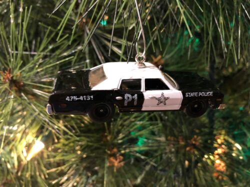 BLUES BROTHERS POLICE CAR CHRISTMAS TREE ORNAMENT 1/64 diecast DODGE MONACO