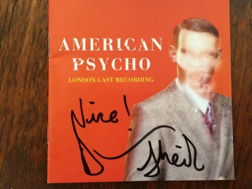 American Psycho cd Broadway UK version signed booklet Duncan Sheik