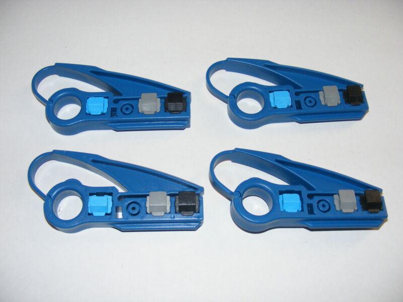 cat 5e cat 6 cable utp stripper tool ideal for coax NIB 4 units rg6 rg59